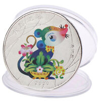 Year of the Rat Commemorative Coin Chinese diac Souvenir Challenge Coins  _