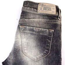NWT Diesel Women's Livier Gray Super Slim Skinny Stretch Denim Jeans 27 x 33