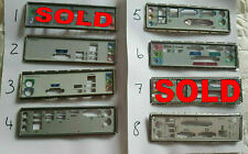 1x I/O IO PLATE BACK SHIELD CHOICE OF ONE FOR MATX ATX UNKNOWN MOTHERBOARD PCLT3
