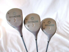 Set Of 3 LRH Northwestern Golf Clubs Woods 1-3-5 Steel Shaft