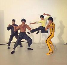 Set 4 Personaggi Bruce Lee Kung Fu Action Figure PVC Nuovo