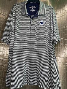 Nike Dallas Cowboys Authentic Dri-Fit NFL Football Men's Polo Golf Shirt 2XL