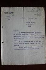 ✒ L.S. André CITROEN industriel - rare lettre signée du 28 janvier 1918