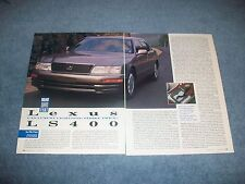 "1995 Lexus LS400 Vintage Road Test Info Article ""Can Luxury Lightning Strike...."