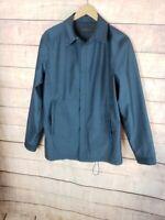 VINTAGE CALVIN KLEIN COLLECTION Mens 38 (M) Blue Wool Blend Windbreaker Jacket