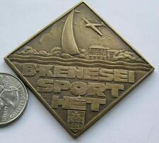 Hungarian art deco,Balaton sport medal 1940 by Szilas