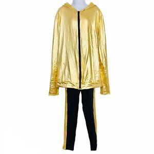 Weissman 8042 Dance Costume SZ MA Jacket Pants Gold Dress-up Halloween Lot 2