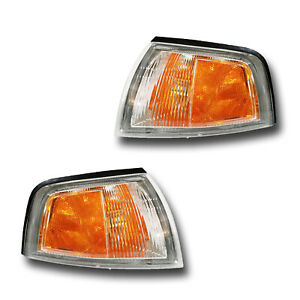 Fits 97-02 Mitsubishi Mirage COUPE Left Right Signal Parking Light Assembly Pair
