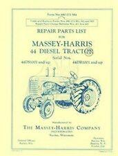 Massey Harris 44 Diesel Repair Parts Manual 1001 & Up
