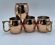 Moscow Mule Mug Stainless Steel Copper  16 Oz -  Set of 4