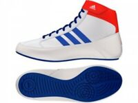 Adidas Havoc Wrestling Boots White Kids Mens Womens Boxing Gym Training Shoes