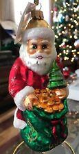"Christopher Radko ""Sack O Plenty"" Santa Claus - Glass Ornament w/tag"