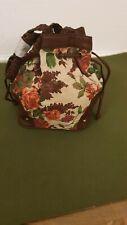 Bucket floral canvas bag