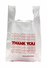 NEW 100 ct PLASTIC SHOPPING BAGS T-SHIRT TYPE, GROCERY WHITE SMALL SIZE BAGS....
