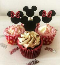12 x Mickey Mouse & Minnie Mouse cupcake pick toppers