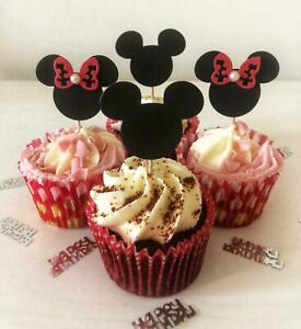 Disney Mickey Mouse & Minnie Mouse Cupcake Toppers (12 pack)