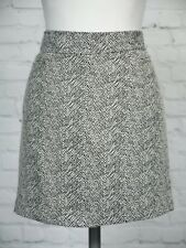 NEXT Short Felt Touch Skirt Size 10 Black & White Animal Snake Skin Pattern