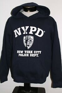 NEW NWT NYPD New York Police Department Mens Large L hooded/Hoodie Sweatshirt