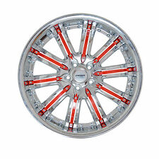 4 GWG Wheels 20 inch Chrome Red Rims fits LAND ROVER FREELANDER 2002 - 2005