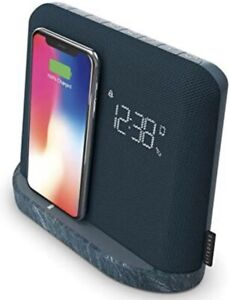 KitSound Xdock Qi  Bluetooth Speaker Charging Dock with FM Radio - Slate Blue