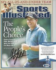 PHIL MICKELSON SIGNED SPORTS ILLUSTRATED *BECKETT COA* BAS AUTHENTIC AUTOGRAPH