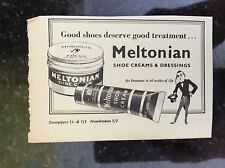 a1k ephemera 1952 advert meltonian shoe polish