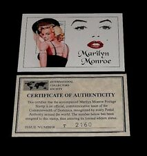1994, DOMINICA, MARILYN MONROE, LIMITED EDITION, $6 SOUVENIR SHEET, W/COA