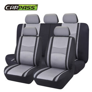 Universal Grey Car Seat Covers Auto Protector Mesh Breathable For SUV VAN Holden