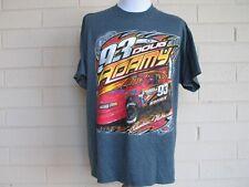 2efbfaa209e530 New ListingDoug Adamy  93 Mens T-Shirt SIze XL Auto Racing Gray Short Sleeve
