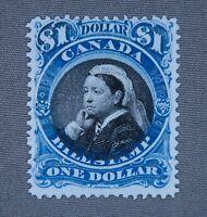 *Kengo* Canada revenue stamp Van Dam #FB52 Bill Stamp $1 MNG CV$30 B.O.B @207