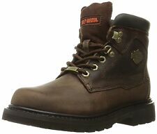 Harley-Davidson Women's Bayport Brown Motorcycle Work Boots Full Grain Leather