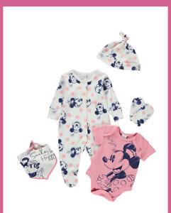Disney Minnie Mouse Baby Girls  5 Piece Starter Set