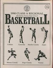 High School Basketball Program Illinois 1990 Tournament Boys AA
