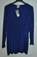 Kim & Co Ladies Chiffon Purple Cardigan Top Size XL(NEW WITH TAGS)
