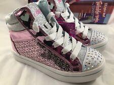 Skechers Twinkle Toes Pink Silver 10976L/PLSL Girls Size 12