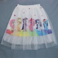 Kids Girls Frozen My Little Pony Tutu Skirt Petticoat Party Costume Cosplay