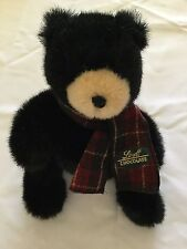 "Vintage Gund Scarf Teddy Bear Stuffed Plush 8"" Black Lindt Chocolate Animal Toy"