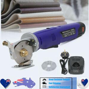 Electric Cloth Cutter 70 mm Scissor Rotary Fabric Round Blade Cutting Machine
