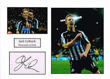 Jack COLBACK SIGNED Autograph 16x12 Card Mounted AFTAL COA Newcastle United