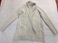 All Saints Marquis cardigan light grey melange open shawl lambswool angora 12