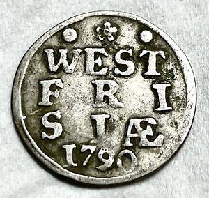 Netherlands West Friesland 1790 Silver 2 Stuivers