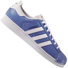 Baskets superstars bleus adidas pour homme