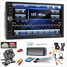 "7"" 2 Din Touch Screen FM Bluetooth Radio Audio Stereo Car Video Player+HD Camera"