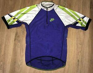 Nike vintage 90s cycling jersey size L