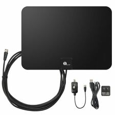 1byone 50 Mile Range Amplified HDTV Antenna, with Detachable Amplifier