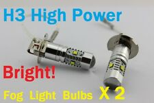 H3 6000K Super White CREE LED Fog Light Bulbs Lights ICE COLD