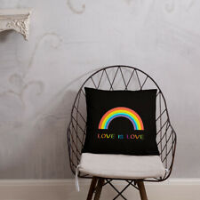 Valentine'Sday Gift Pillow Lgbt Gay Pride Flag Decorative Two Sides Print 18x18