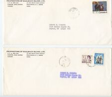 1973 KAULBACH ISLAND POSTALLY USED COVERS FDC CANCEL & OTHER FREE SHIPPING!