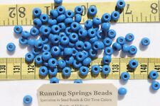 1/0 Seed Beads Glass Opaque Teal Blue Crafts Jewelry Making 6 x 5mm /1oz
