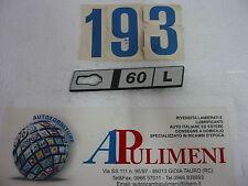 "345/L FREGIO-LOGO-SIGLA-SCRITTA (BADGE) LATERALE DX FIAT RITMO  ""60 L"""